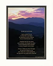 Aunt & Uncle Gifts Gift for Aunt and Uncle with Thank You Prayer for Best Aunt and Uncle Poem. Mt Sunset Photo, 8x10 Double Matted. Special for Christmas, Birthday