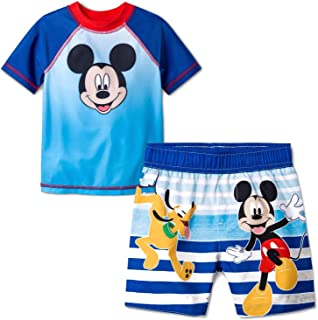56d598af96 Mickey Mouse & Friends Boys Swim Trunks and Rash Guard Set (Toddler/Little  Kid