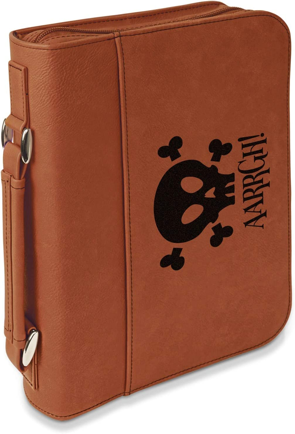 Pirate Leatherette Bible Cover with Max 74% OFF Zipper Handle Sin Limited price - Large-