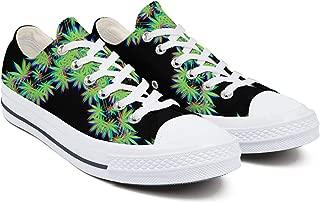 Mens Cannabis Leaf Marijuana Weed Sneakers Stylish Vintage Air Cute Tennis Shoe