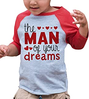 7 ate 9 Apparel Boy's Valentine's Day Toddler Vintage Baseball Tee
