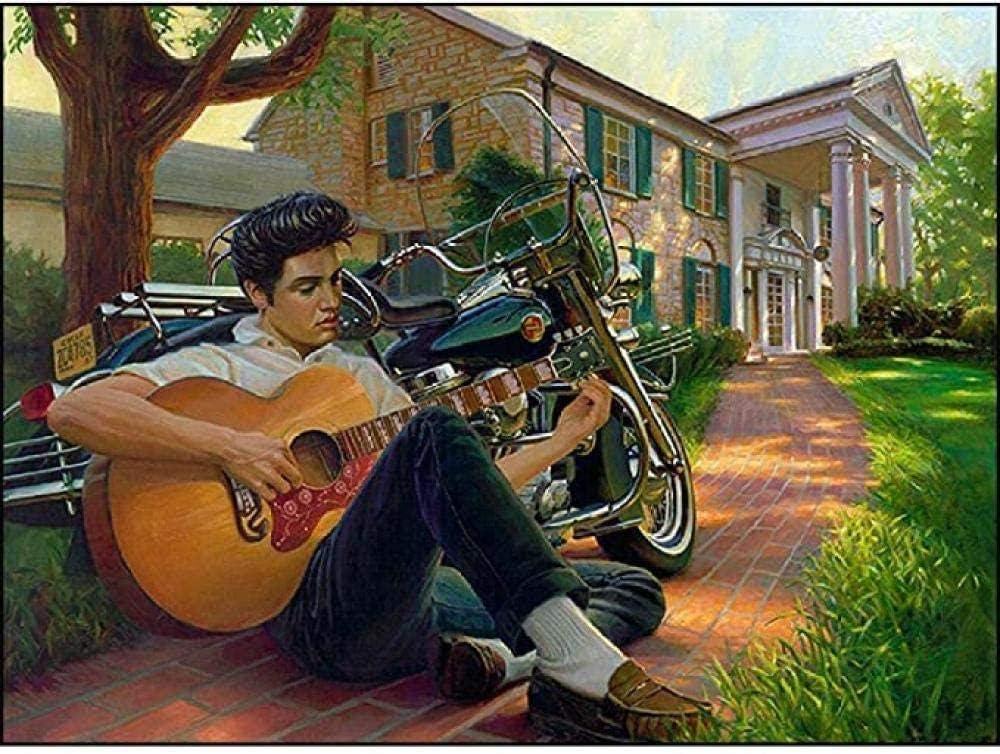 BAOZHEN 1000 Piezas Puzzles Rompecabezas de Madera Elvis Tocando la Guitarra Inteligencia Adultos niños Art Juego de Rompecabezas
