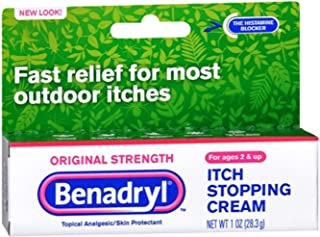 Benadryl Itch Stopping Cream, Original Strength, 1 Ounce (Pack of 2)