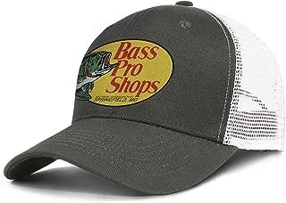 Unisex Man's Baseball Hats Vintage Adjustable Mesh Sports BASS-Pro-Shops-Logo-Flat Cap