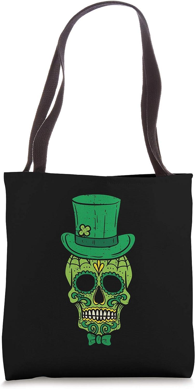 Leprechaun Irish Sugar Skull St Patricks Day Mexican Gift Tote Bag