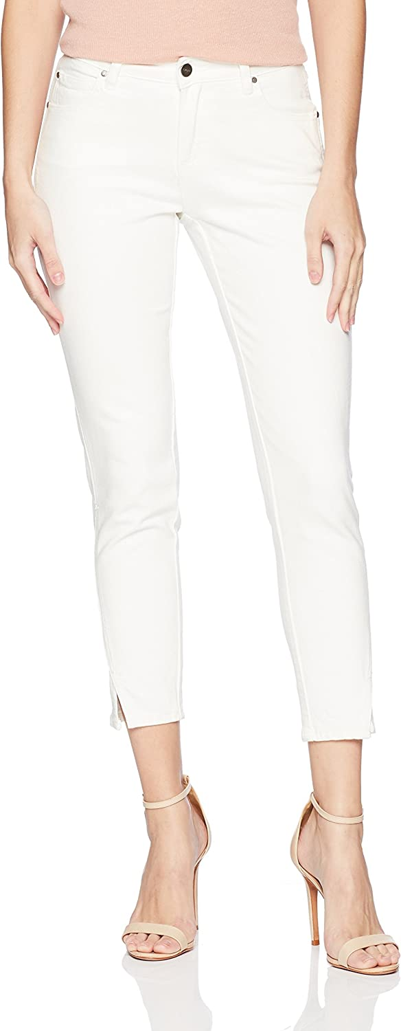 EVIDNT Womens Tate Skinny Mid Rise Cropped Denim Jean Jeans