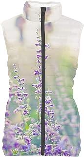 Rainbow Rules Lavender at Dusk Mens Puffer Vest Bodywarmer Gilet