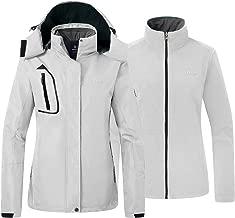 Wantdo Women's Fleece 3 in 1 Interchange Ski Jacket Waterproof Insulated Coat
