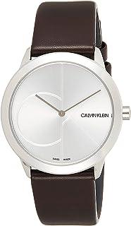 Calvin Klein Womens Quartz Watch, Analog Display and Leather Strap K3M221G6