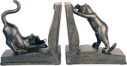 Ten Waterloo Playful Cats Bookends Pair, 7 inches High x 6 inches Wide Each Piece