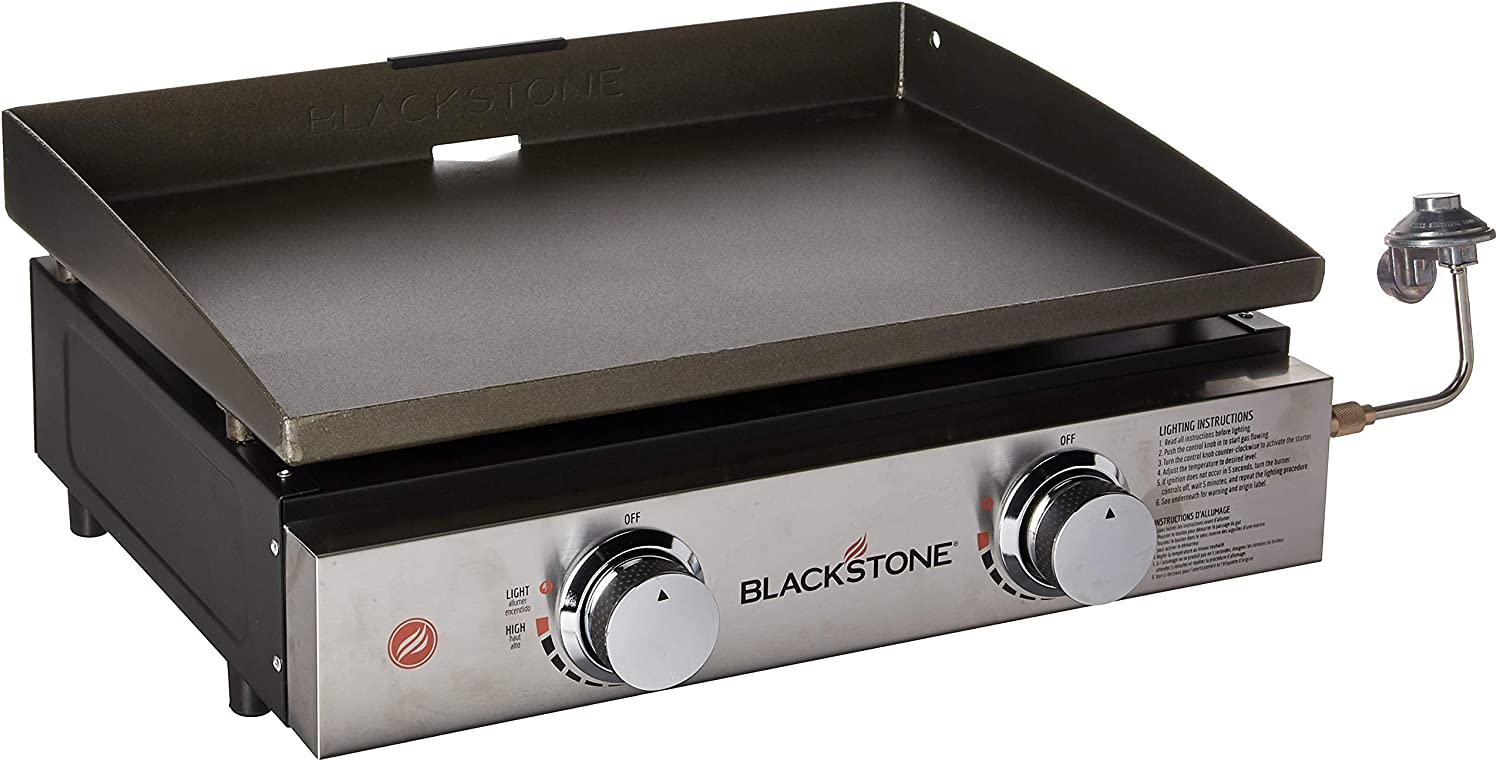 22 inch Blackstone 1666 22 Tabletop Griddle Outdoor Grill Size 17//22 Leg Side Shelf is Made to fit Either The 17 or 22 Table Top Black /& 5013 Universal Griddle Stand Black