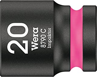 """Wera 05004577001 8790 C Impaktor nasadka klucza nasadowego 1/2"""", jaskrawy róż, 20,0 mm"""