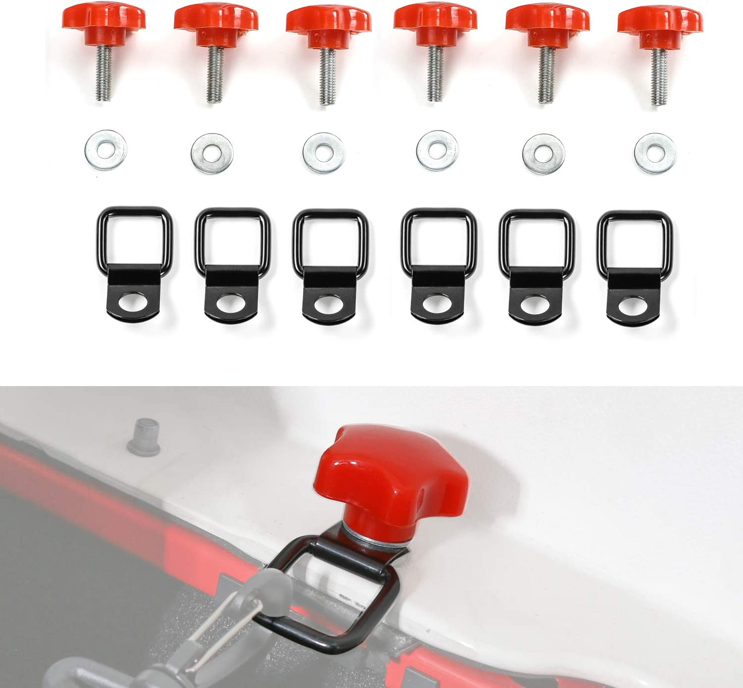 6Pcs Hardtop Raleigh Mall Quick 70% OFF Outlet Removal Bolts Screws Tie D Ring Thumb