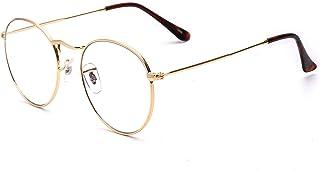 نظارة بتصميم ادبي كلاسيكي مع اطار معدني انيق وعدسات شفافة من اجل حالات حسر البصر للطلاب، مناسبة للجنسين من اوهوجود