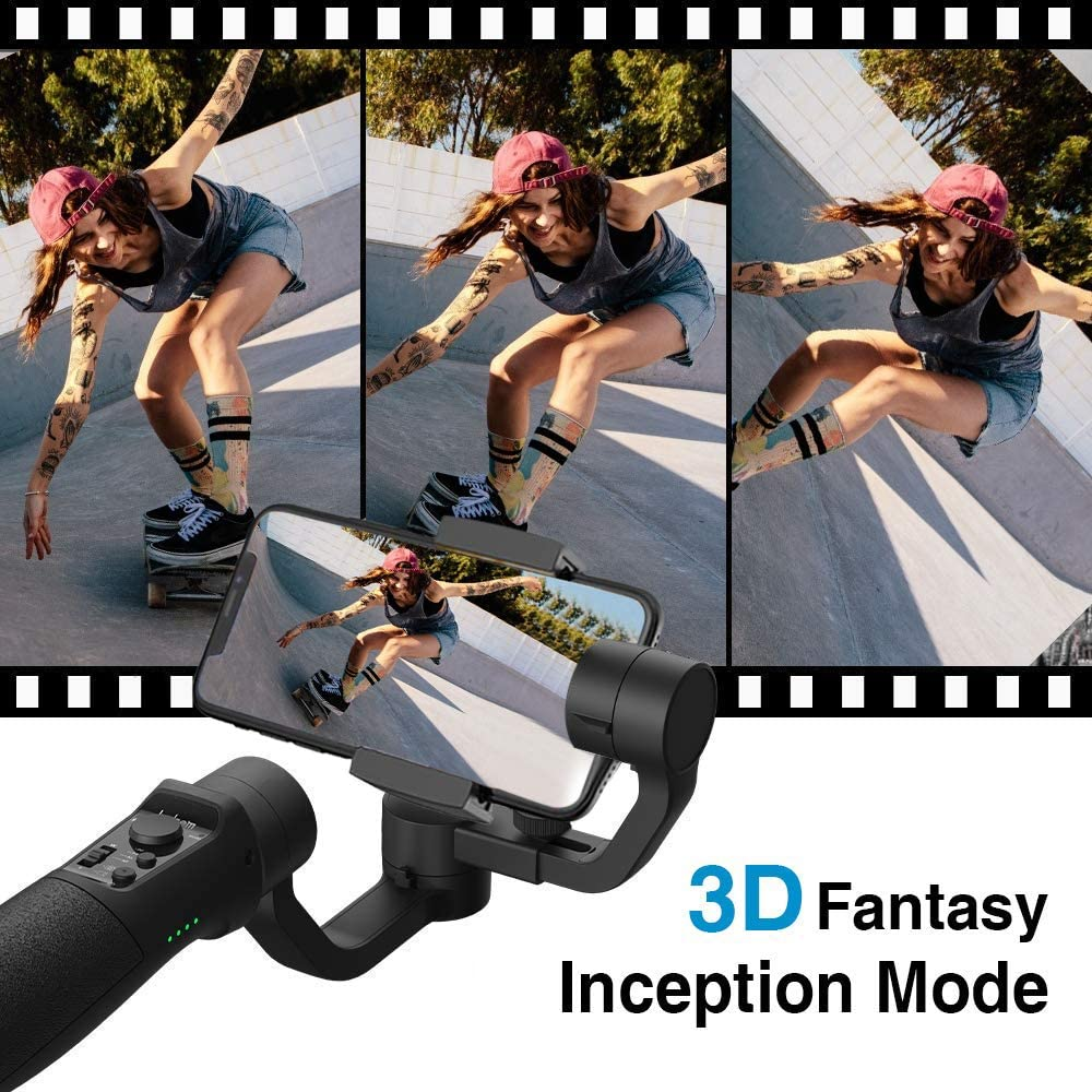 Hohem iPhone Gimbal Stabilizer with Face Tracking Motion Time-Lapse APP Control VLOG Equipment for iPhone 11 Pro Max//Samsung//Huawei iSteady Mobile Plus 3-Axis Gimbal Stabilizer for Smartphone