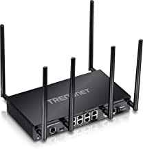 TRENDnet AC3000 Tri-Band Wireless Gigabit Dual-WAN VPN SMB Router, TEW-829DRU, MU-MIMO, Wave 2, Router Limits, Internet Router, Whole Office/Home wifi, Pre-Encryped Wireless,QoS, Inter-VLAN routing