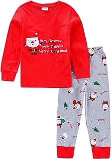 2701d64cab51e Amooy DiZi Unisexe Bébé Pyjama - Enfant Garçon Filles Ensemble de Pyjama  Père Noël Déguisement Manches