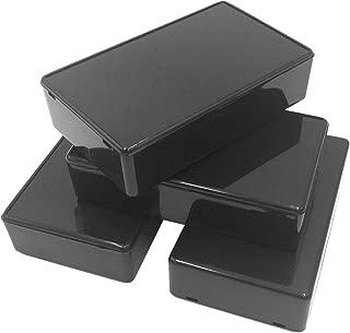 Onwon 5Pcs Black Waterproof Plastic Electric Project Case Junction Box 3.94 x 2.36 x 0.98 inches(100x60x25mm).