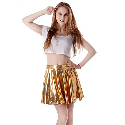 ebee890ea HDE Women's Casual Fashion Flared Pleated A-Line Circle Skater Skirt