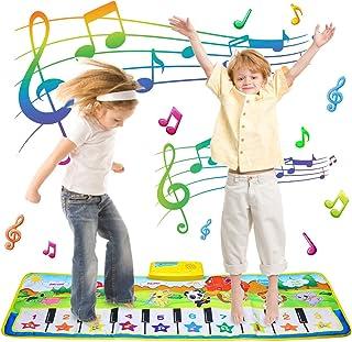 音楽マット Onlygreen ピアノミュージックマット 子供用ピアノ 鍵盤楽器の玩具 マット 10鍵 8種類の楽器内蔵折畳 スピーカー搭載 録音機能 再生機能 デモモード 触感ゲーム 知育玩具 お誕生日 出産祝いのプレゼントード 触感ゲーム 知育玩具 お誕生日 出産祝いのプレゼント