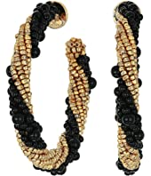Oscar de la Renta - Beaded Hoop Earrings