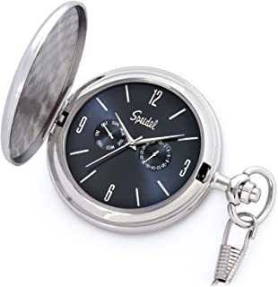 Speidel Classic Brushed Satin Engravable Pocket Watch with 14