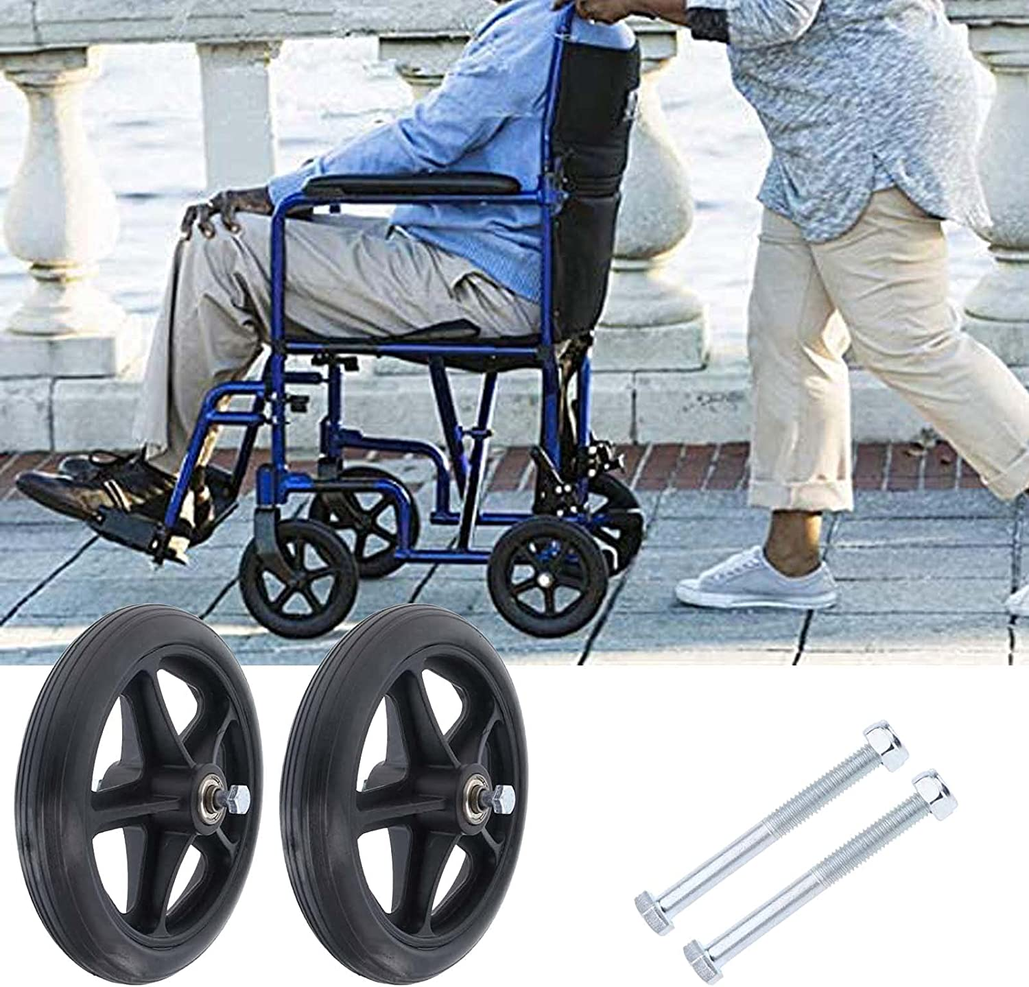 A-bize 2Pcs Strong and Durable Wa Wheel 1 year warranty Caster Front Max 83% OFF Wheelchair