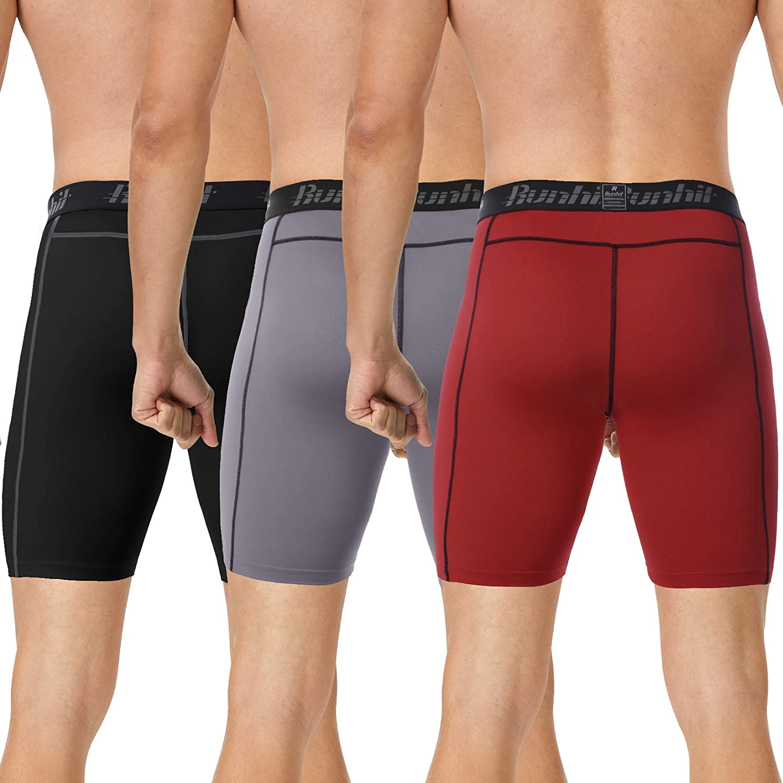 Runhit Compression Shorts for Men,Mens Underwear Spandex Shorts Workout Running