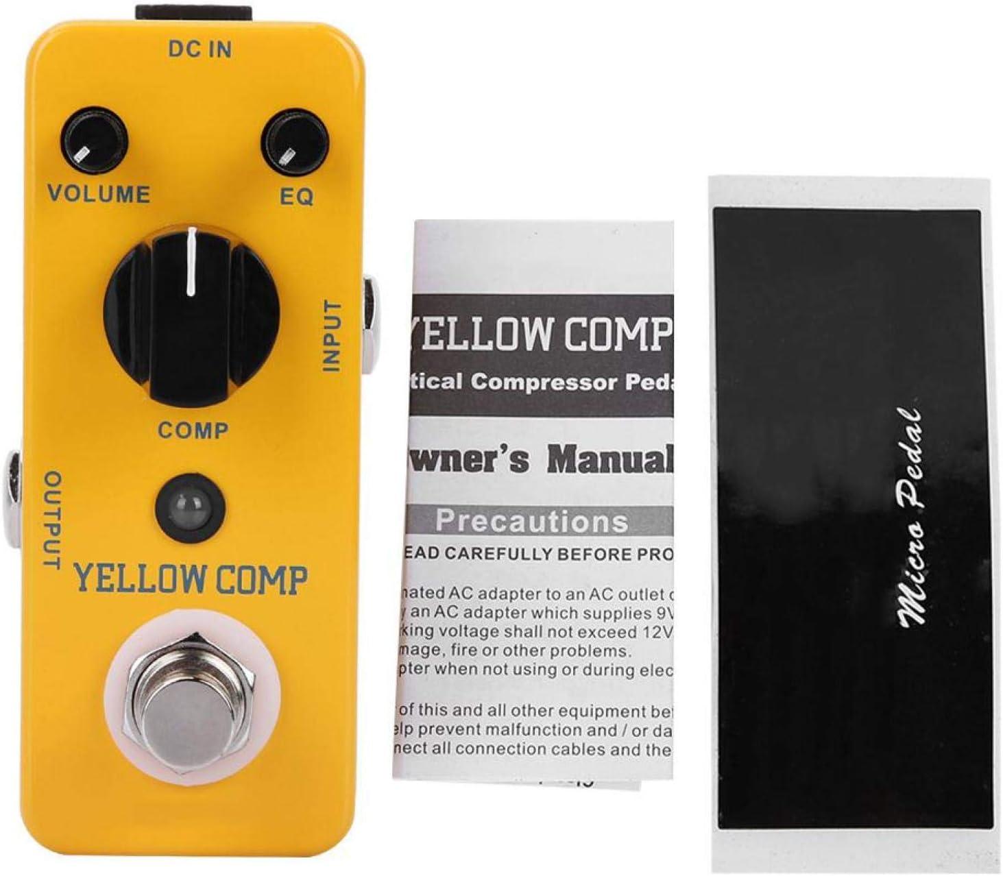 Práctico Compresor de efectos de guitarra Yellow Comp Profesional de efectos de guitarra para guitarrista para práctica