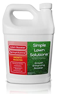 Extreme Grass Growth Lawn Booster- Natural Liquid Spray Concentrated Fertilizer with Fulvic & Humic Acid- Any Grass Type- Simple Lawn Solutions (1 Gallon)