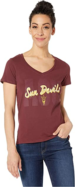 Arizona State Sun Devils University V-Neck Tee