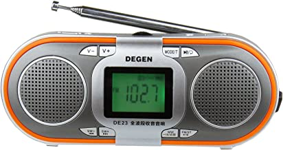 Degen DE23 3-in-1 Rechargeable AM/FM Shortwave Radio with Dual Speakers, Portable Speaker & MP3 Player with Built-in Micro... photo