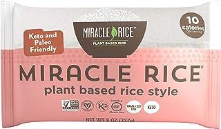 Miracle Noodle Miracle Rice - Gluten-Free Shirataki Rice, Keto, Vegan, Soy Free, Zero Carbs, Zero Calories, Kosher, Paleo,...