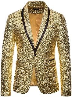 OEAK Giacca Steampunk Uomo Blazer Slim Fit Giacca Gotica Uniforme Collo Alto Cappotto Lungo Vintage Medievale Halloween Cosplay Serata