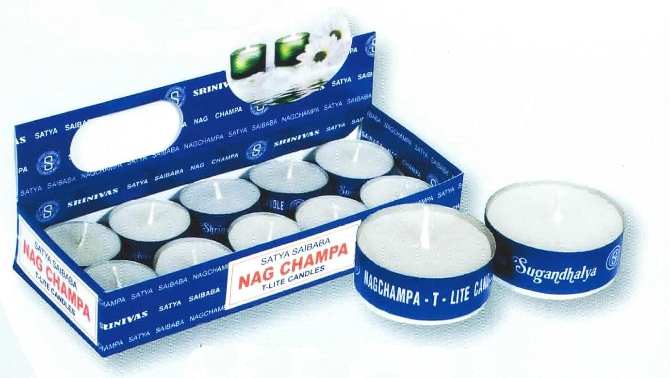 カビ女性蒸発ナグチャンパT-ライトキャンドル 20個セット