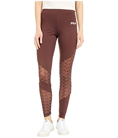 Fila Vilina Leggings (Deep Mahogany/Turtle Dove/Misty Rose) Women