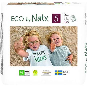 Eco by Naty 3-6kg 124 couches Ancien Mod/èle Couche /écologique fabriqu/ée /à partir de fibres v/ég/étales Taille 3
