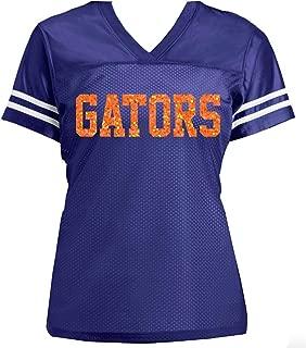Florida Gators or Customize your School Glitter Ladies Jersey Shirt
