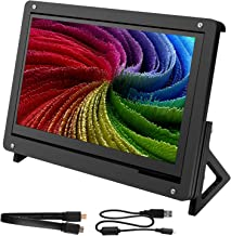 for Raspberry Pi Screen, Kuman 7 Inch Capacitive Touch LCD Display HDMI Input 1024x600 with Case Stand
