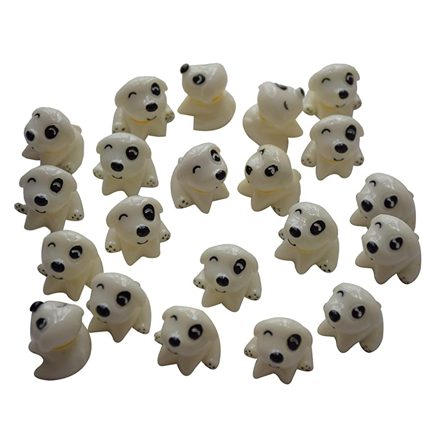 AMOBESTER Sime Charms 30Psc Puppy dogs Decorative Slime Beads For Arts Crafts Ornament