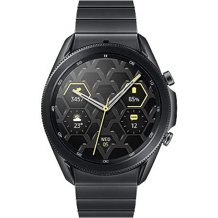 SAMSUNG Galaxy Watch 3 Titanium Smart Watch 45mm US Version GPS Bluetooth Advanced Health Monitoring Fitness Tracking Long-Lasting Battery, Mystic Black