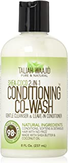 Taliah Waajid Shea-Coco Conditioning Co-Wash, 8 oz - Use as Leave-in Conditioner or Cowash - Conditioners, Softens & Detangles - Shea Butter & Coconut Oil