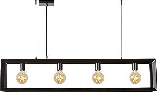 Lucide 73402/04/15 Thor Suspension, Métal, E27, 60 W, Fer Gris, 120 x 13 x 155 cm