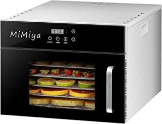 MiMiya Déshydrateur Alimentaire avec 6 Plateaux Inox Température Réglable LED Déshydrateur Électrique Food Dehydrator avec...