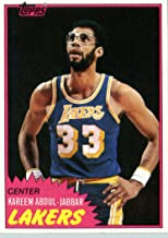 1981/82 Topps Basketball Card # 20 Kareem Abdul Jabbar Los Angeles Lakers In A Protective Display Case!