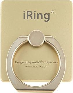 【正規輸入品】iRing Premium オークス スマホグリップ スタンド 吊り下げフック付き ゴールド スマホ タブレット用 落下防止 UMS-IR01HKGO
