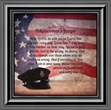 Elegantly Yours Policewoman's Prayer, Gifts for Women Police Women, Gifts for Cops, 10x10 8655B