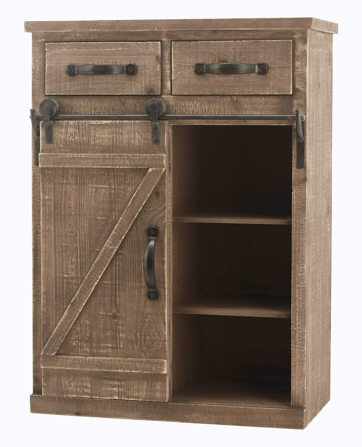 Rustic Now free shipping Barn Door Wood End Console Table Cabinet Sale Special Price Distressed
