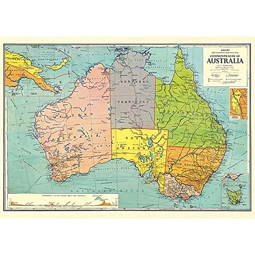 Carte Routiere Australie Gratuite.Carte Australie Amazon Fr