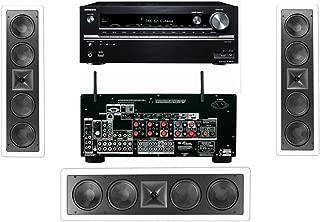 Klipsch KL-6504-THX In-Wall LCR Speaker(3-Each) Onkyo TX-NR838 7.2 Channel Network- White